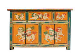 orange foo dogs orange tibetan foo dogs sideboard console table cabinet