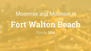 Map Of Fort Walton Beach Florida by Moonrise Moonset And Moon Phase In Fort Walton Beach