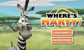 marty zebra game games hellokids