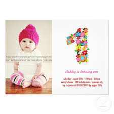 spring flowers one baby first birthday photo personalized