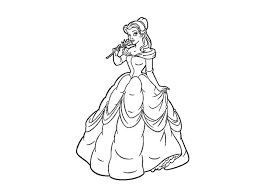 beauty belle coloring beauty beast pages