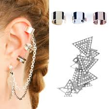 s ear cuffs 10 different ways of wearing ear cuffs with chains adworks pk