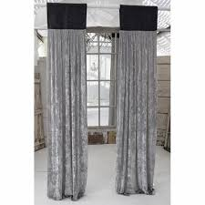 Slate Gray Curtains Couture Dreams Curtains Platinum Silk Velvet With Slate