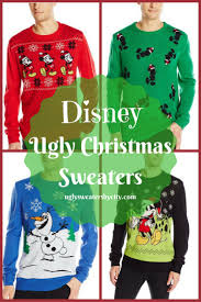 disney character ugly christmas sweaters 2017 holiday gift guide