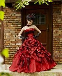 red fantasy wedding dresses naf dresses