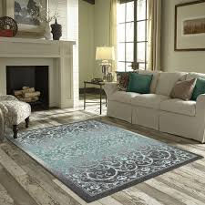 Gray Blue Area Rug Charlton Home Landen Gray Blue Area Rug Walmart