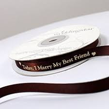 personalized wedding ribbon plain personalized wedding ribbon the knot shop