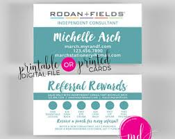 Instant Business Card Printing Rodan And Fields Mini Cards Instant Download Rodan