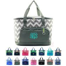 monogrammed baskets personalized insulated picnic baskets embroidered a name or