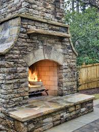 Stone Fireplace Kits Outdoor - garden cool patio decoration with masonry fire rock outdoor
