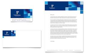 technology consulting u0026 it business card u0026 letterhead template