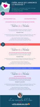 annonce de mariage qui annonce le mariage sur le faire part parents ou futurs mariés