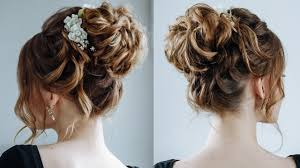 hairstyles for curly and messy hair high curly messy bun the topknot updo youtube