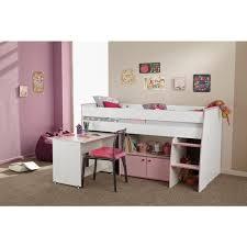lit combiné bureau fille lit enfant combiné pin lasuré blanc et achat vente lit