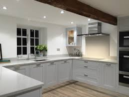stunning grey hand painted shaker kitchen made in sheffield