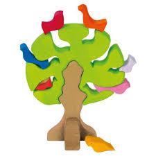 wooden bird tree puzzle glueckskaefer