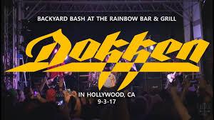 dokken backyard bash rainbow bar u0026 grill in hollywood ca 9 3