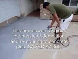 How To Resurface Concrete Patio Concrete Resurfacing With Liquid Roq Youtube