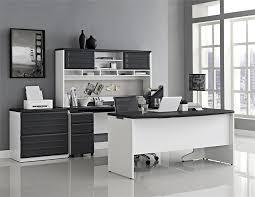 u shaped office desk with hutch amazon com ameriwood home pursuit u shaped desk with hutch bundle