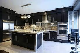 black kitchen cabinets with white countertops dark kitchen cabinets white seat metal frame bar stools brick l