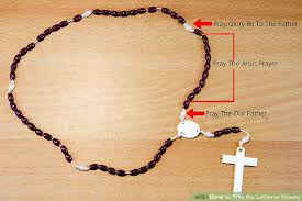 how to pray the lutheran rosary 12 steps with pictures