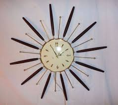 Herman Miller Clock Vintage 1963 Mid Century Starburst Robert Shaw Lux Electric Wall