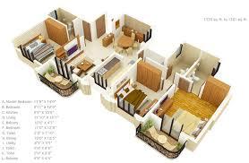 50 three u201c3 u201d bedroom apartment house plans roommate house plans