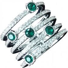 swarovski rings green images Green swarovski women rings vestiaire collective jpg