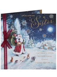 clintons collection rose gold sister christmas card clintons