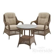Rattan Bistro Table 4 Seasons Outdoor Sussex 3 Luxury Rattan Bistro Set