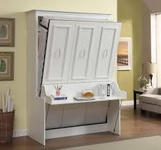 White Office Desk by Gabriella Full Murphy Bed With Desk White 2 199 99