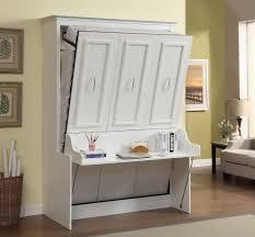 Horizontal Murphy Beds Gabriella Full Murphy Bed With Desk White 2 199 99