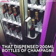 cosmopolitan bottle cosmopolitan great news there u0027s a champagne vending