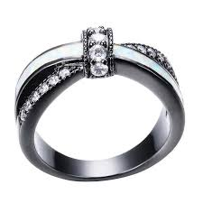 black gold engagement ring april black gold filled ring venestia