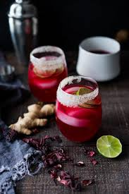 pomegranate margarita hibiscus margaritas with ginger and cloves feasting at home