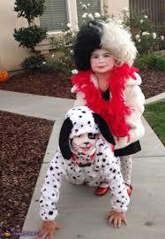 Cruella Vil Halloween Costumes Cruella Deville U0026 Dalmatian Halloween Costume