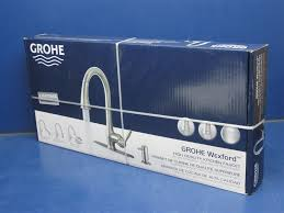 grohe feel cuisine grohe feel cuisine kitchen sink faucet mixer retro black image