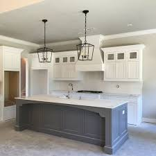 grey kitchen island kitchen countertops and tile flooring of our modern farmhouse