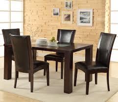 espresso dining room sets homelegance lee 5 piece dining room set w crackle glass insert in