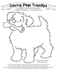 dulemba coloring tuesday dog paper