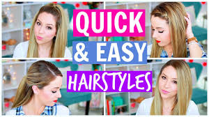 quick and easy hairstyles for running running late quick and easy hairstyles youtube