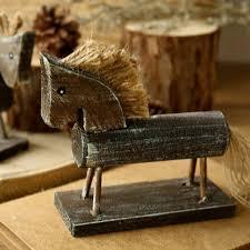 bureau de douane europa creatieve handgemaakte boreal europa stijl hout paard natuurlijke