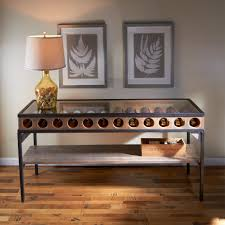 sofa table with wine rack wine bottle display console table enthusiast sofa with storage