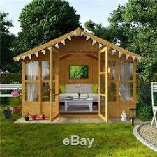 Summer Garden Sheds - wooden summer house 8x10 garden shed flooring included traditional
