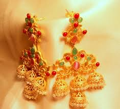 big jhumka gold earrings buy amrapali designer collection gold plated matt look big jhumka