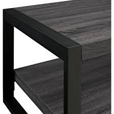 walker edison coffee table walker edison w48cgctcl angelo home 48 coffee table in charcoal