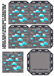 large scale minecraft printable diamond ore birthday party ideas