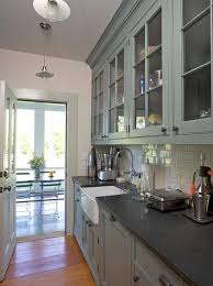 gray kitchen cabinets ideas invisible cabinet downlight classic wood table brown marble