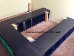queen platform bed plans with storage fpudining