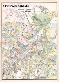 Los Angeles Freeway Map by Stevenson U0027s Cadastral Survey Of Los Angeles 1884